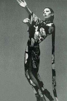 Anjelica Huston by Richard Avedon, 1970: D in D