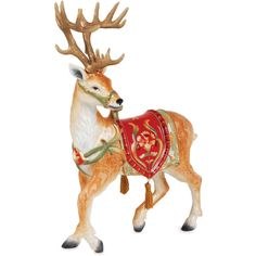 Fitz and Floyd Damask Holiday Deer Figurine | Fitz and Floyd ...