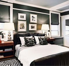 Black White Masculine Bedroom Bedrooms Pinterest Decor And