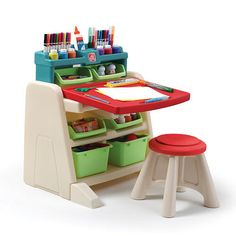 """Step2 Flip and Doodle Easel Desk with Stool - Step 2 - Toys """"R"""" Us"""