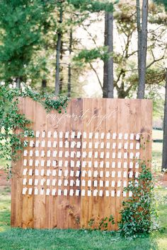 "From the editorial ""Find Out Why Toffee Is Officially Our New Favorite Wedding Hue."" This organic inspired escort display was the perfect touch to this summer, outdoor wedding in Wisconsin. We're sharing the full gallery on SMP!  LBB Photographer: @clarypfeiffer  #escortdisplay #weddingseating #weddingreception #summerwedding #weddingdecor #weddingdetails"