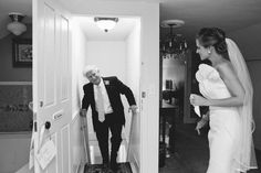 Father seeing bride for first time, Camden, Maine