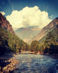 Landscape kasol Parbati river