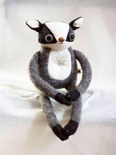 Chętnie udostępniam ten artykuł z mojego sklepu #etsy: Muta | BADGER * Made to order * soft sculpture toy hand sewed stuffed animal embroidered plush woodland nursery decor Sewing Stuffed Animals, Woodland Nursery Decor, Felt Toys, Soft Sculpture, Badger, Handmade Toys, Art Dolls, Hand Sewing, Creatures