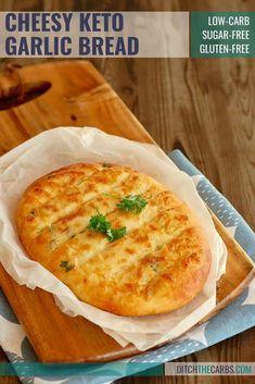 The MOST POPULAR recipe for cheesy keto garlic bread - using mozzarella dough. The MOST POPULAR recipe for cheesy keto garlic bread - using mozzarella dough. Ketogenic Diet Meal Plan, Ketogenic Diet For Beginners, Ketogenic Recipes, Low Carb Recipes, Diet Recipes, Recipes Dinner, Dessert Recipes, Slimfast Recipes, Garlic Recipes