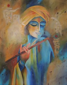 Buy Vipasana artwork number a famous painting by an Indian Artist Arti Naahar. Indian Art Ideas offer contemporary and modern art at reasonable price. Ganesha Painting, Tanjore Painting, Indian Art Paintings, Original Paintings, Artwork Paintings, Arte Krishna, Lord Krishna, Shiva, Zantangle Art