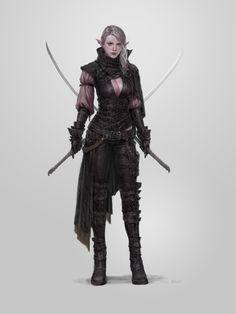 RPG half-elf NPC