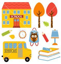 School icons set vector 1003742 - by Olillia on VectorStock®