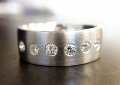 Custom men's band with diamonds! #TAnthonyJewelers