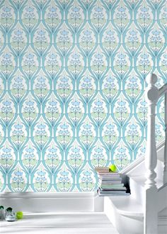 Amy Butler Passion Lily Ocean Wallpaper