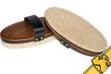 """HorseHaus """"Tora"""" Goat Hair Body Brush"""