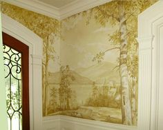 grisaille painted mural - Inga Belozerova