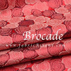 Red Rose Fabric. Ship  Chinese . Wedding fabric