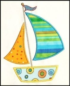 sailboat applique design - Google Search                                                                                                                                                                                 More