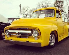 The only thing cooler than a vintage truck is one in bright yellow! #Classic #Truck #PickUp #Cool