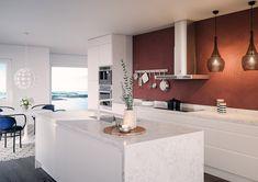 Integra White – Kitchen from Epoq – Buy at Elkjøp and Lefdal! Kitchen Interior, Interior Design Living Room, Kitchen Decor, Small Galley Kitchens, Home Kitchens, White Kitchen Cupboards, Contemporary Kitchen Design, Cuisines Design, Home And Living