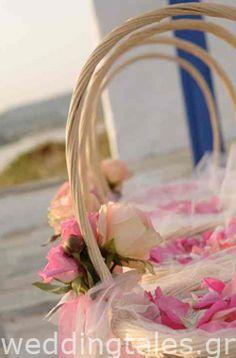 Διακόσμηση Γάμου: Ρομαντικά Καλάθια με Ρύζι