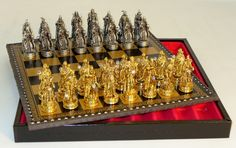 Chess sets from The Chess Piece chess set store: Royal Chess Fantasy Pewter Chess Set, Stylish Metal Chess Sets