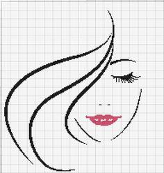 Lady lips x-stitch pattern Cross Stitch For Kids, Simple Cross Stitch, Cross Stitch Charts, Cross Stitch Designs, Cross Stitch Patterns, Cross Stitching, Cross Stitch Embroidery, Hand Embroidery, Embroidery Designs