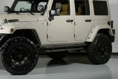 2013 Bentley White Sand Kevlar Jeep Wrangler Unlimited http://www.iseecars.com/used-cars/used-jeep-wrangler-for-sale