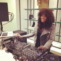 Dj Lissa Monet Spinning at Hudson's Bay Eaton Centre