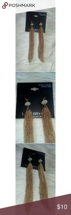Lane Bryant Long Dangling Earrings NWT Sensitive ears, nickle free. NWT. Lane Bryant Jewelry Earrings