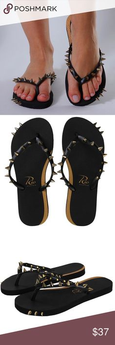 72f412131648ba Rio Custom New Women s Flip Flops Attitude Black Keep it Stylish even  without High Heels Rio