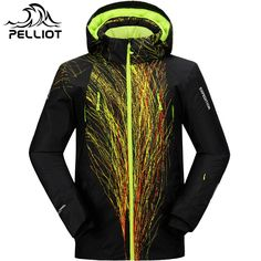 PELLIOT Ski Jacket Men Winter Waterproof Outdoor Snowboard Snow Jacket Super Warm Breathable Skiing Snowboarding Hooded Jackets