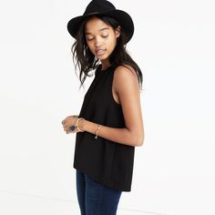 Daynight Split-Back Tank Top : tops & blouses | Madewell