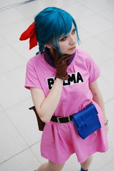 Bulma DragonBall cosplay