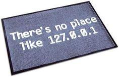 """L'indirizzo IP scritto su questo zerbino è quello generico per indicare il computer di casa... """"non c'è nulla come casa """","""