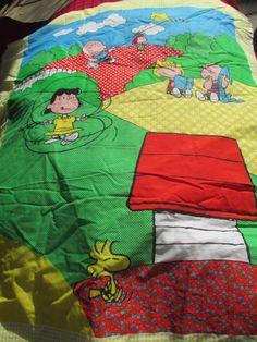 Vintage Peanuts Snoopy Charlie Brown Quilt & Pillow Kit *  Ready to Sew for Child, Baby, Doll by trackerjax on Etsy