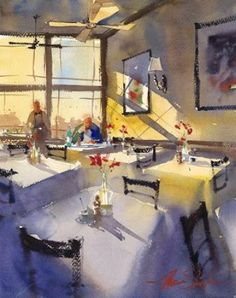 Lunch Rush by Ron Stocke #watercolor jd