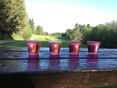 4 shooters await us at the hole. Good Ol, Shot Glass, 18th, Tableware, Dinnerware, Dishes, Shot Glasses, Serveware