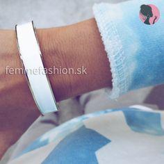 Kovový biely náramok White Lyana  http://femmefashion.sk/naramky/1384-naramok-white-lyana.html