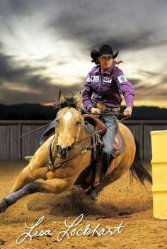 Lisa Lockhart,  WPRA Barrel Racer