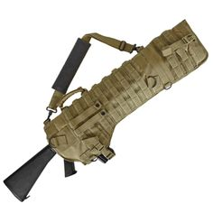 The Tactical Assault Rifle Scabbard gives you quick access to any assault weapon. This scabbard is a universal product that has been designed to transport a variety of different types and sizes of assault rifles.