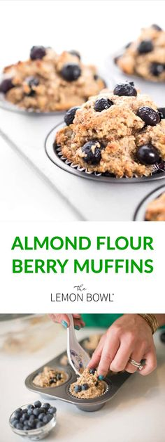 Light, nutty and moist - these gluten free blueberry muffins taste amazing and are high in protein and low carb. Perfect for morning breakfast! #almondflour #muffins #bakedgoods #blueberrymuffins #muffinrecipes #glutenfreerecipes #glutenfree #almondflour #almondflourrecipes