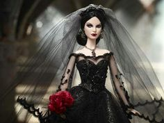 Close up shot of Bride of Dracula by Bill Greening. Ooak doll that sold at convention. $10, 000