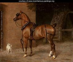 equestrian paintings | ... Horse - Jacques Laurent Agasse - www.most-famous-paintings.org