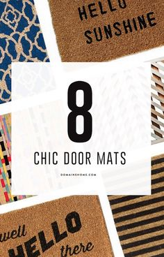 Amp up your curb appeal with one of these amazing door mats