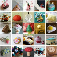 25 FREE Pincushion Tutorials - great basic patterns to use for ;in cushions and Christmas ornaments, etc...