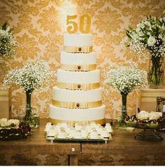 Esse é de um aniversário de 50 anos, mas ficará lindo também para uma festa de 15 anos!!!
