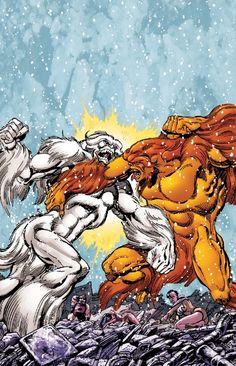 Snowbird vs Sasquatch (Alpha Flight)