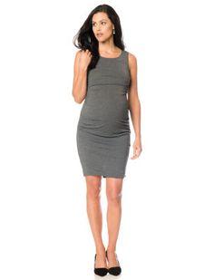 Sleeveless Ruched Maternity Dress