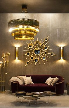 HOW TO GET A LUXURY LIVING ROOM PT 1: GOLDEN LIGHTING | Home Design Ideas