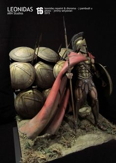 LEONIDAS from ARH studios scale leonidas repaint & diorama - johannes pambudi u photo - jimmy setywan 16 diorama commission work finished the end 2015