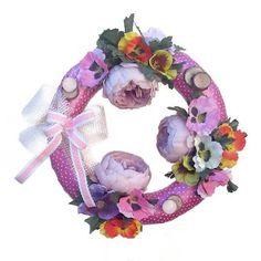 Árvácskás tavaszi kopogtató Floral Wreath, Home Decor, Floral Crown, Decoration Home, Room Decor, Home Interior Design, Flower Crowns, Home Decoration, Flower Band
