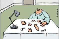 Auf unserer Comic-Seite tun sich von nun an wieder Abgründe auf - Cartoonist Martin Perscheid sei Dank!