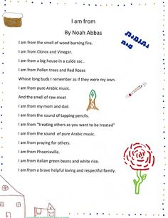 I am from poem - Noah Abbas